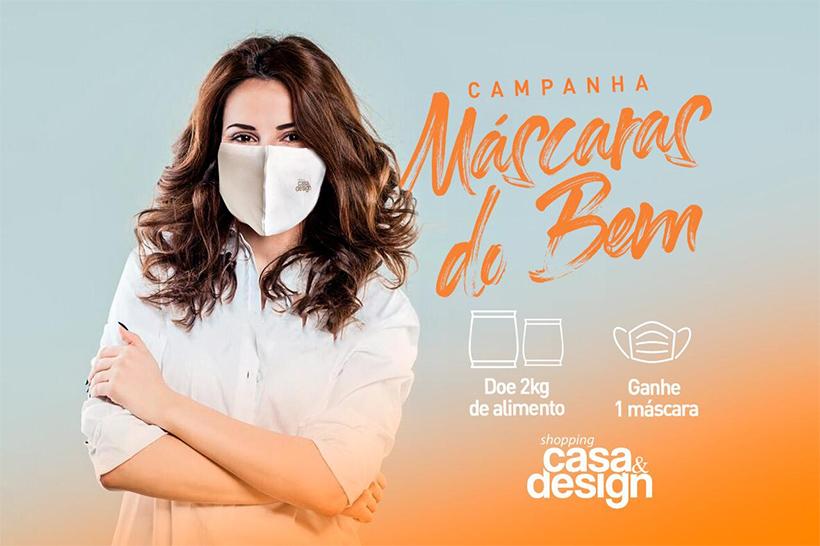 Participe da campanha beneficente Máscaras do Bem do Shopping Casa & Design