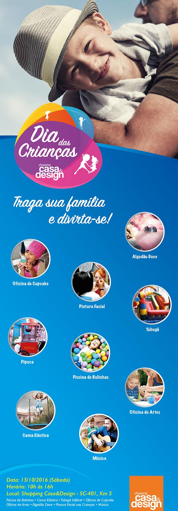 Dia da Criança é no Shopping Casa & Design